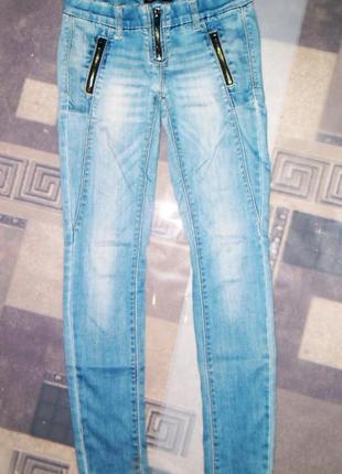 Акция! женские,стрейчевые,светло-голубые джинсы,штаны скинни toxik3 denim art