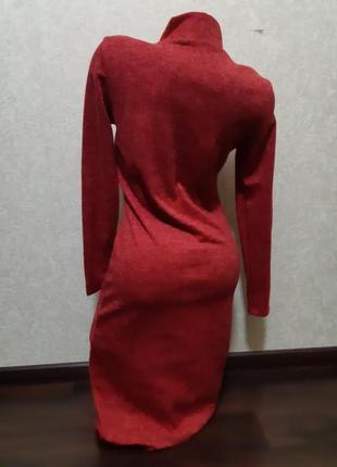 Теплое красное платье ангора софт2