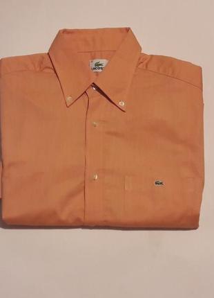 Шведка, рубашка с коротким рукавом lacoste