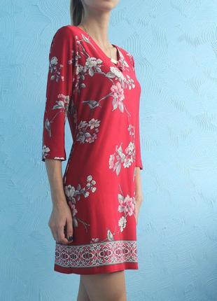 Красное платье цветочный принт wallis