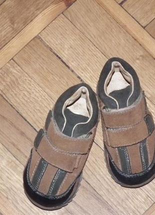 Замшевые ботиночки, внутри натуральная кожа , р. 20, стелька 11,5 см
