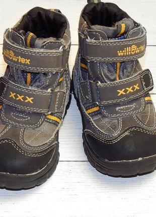 Демисезонные ботинки willowtex для мальчика. холодная осень -еврозима, стелька-14 см.