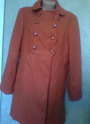 Двубортное пальто большой размер от george
