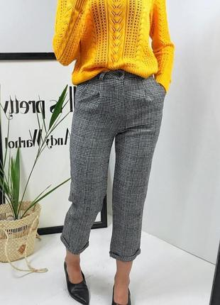 Стильные тёплые укороченные брюки кюлоти topshop