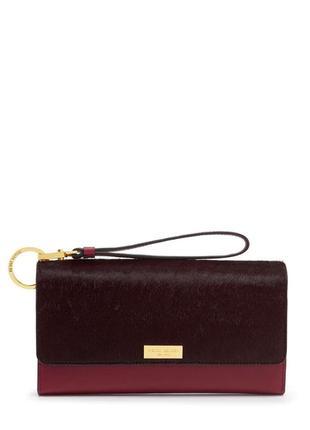 Фирменный кожаный органайзер кошелёк клатч с ворсом