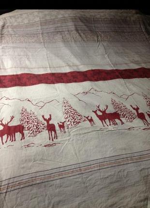 Двухспальный пододеяльник с оленями
