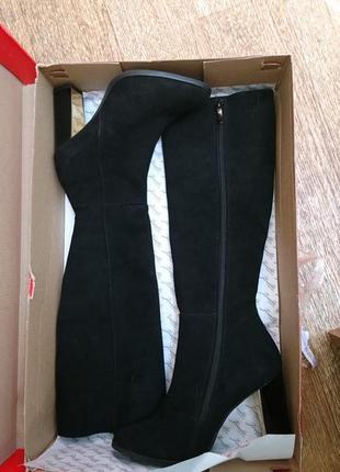 Элегантная зима на худенькие ножки, стелька 23 см, натуральный замш, европейка