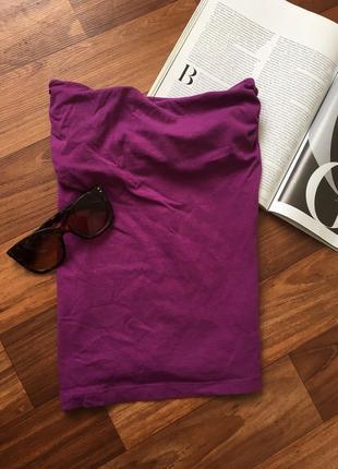 Фиолетовый топ без брителек майка h&m