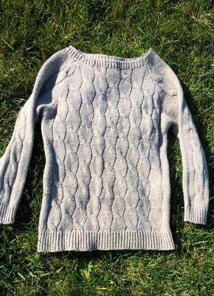 Шикарный тонкий шерстяной свитер, италия