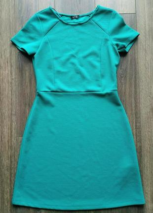Шикарное бирюзовое платье oltre италия размер s