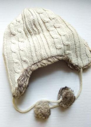 Супер теплая, стильная  шапка - ушанка new look2 фото
