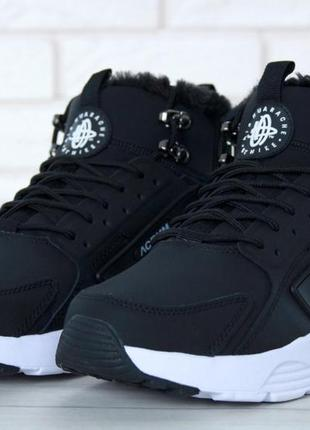 8efa0c5c Зимние кроссовки nike huarache x acronym city winter black/white с мехом