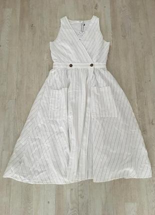 Платье mango миди в полоску, м/l5 фото