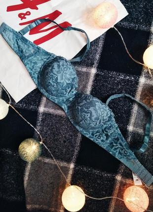 Бюстгальтер 70а бирюзовый голубой кружевной лифчик бра лиф балконет