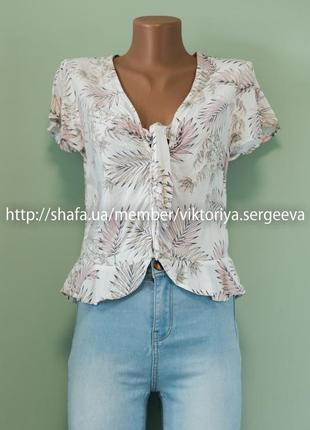 Большой выбор блуз - очень крутая летняя блуза с рюшами и завязками