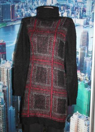 Теплое платье свитер туника