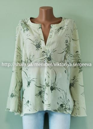 Большой выбор блуз - новая с биркой актуальная блуза с воланами на рукавах