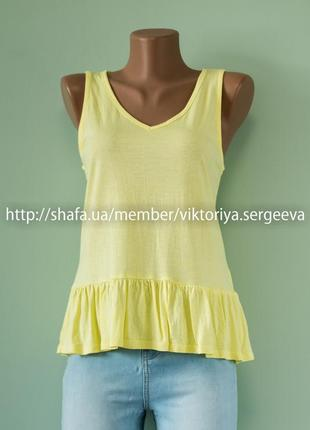 Большой выбор блуз - новая легкая блуза с рюшей по низу нежно желтого цвета