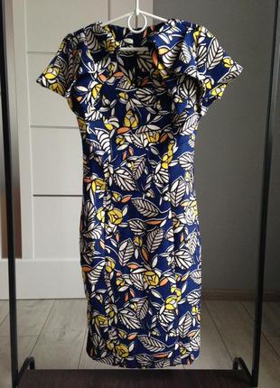 Шикарное платье миди с оригинальными плечами/ брэндовые вещи - доступные цены!!!