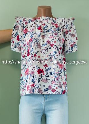 Большой выбор блуз - актуальная нежная блуза открытые спущенные плечи