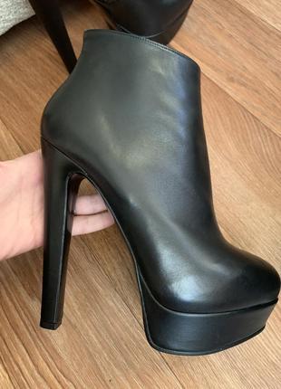 Кожаные ботинки - оригинал! nando muzi - размер 40