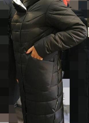 Пальто пуховик,макси ,хит 2019... размер 44-54