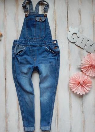 Tu стильный джинсовый комбинезон на девочку  5 лет