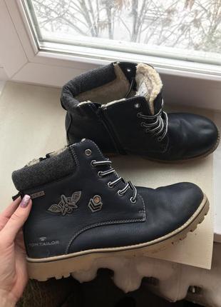 Зимние ботинки эко кожа tom teilor на шнурках