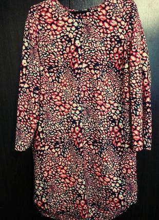 Платье рубашка сзади удлиненное