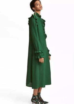 👗👗👗очень красивое платье миди h&m с оборками.