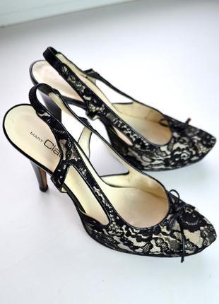 Туфли 39 mary claud italy высокий каблук шпилька ажурные босоножки кружево италия