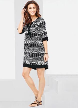 Трикотажное платье размер 46-50 наш tchibo тсм