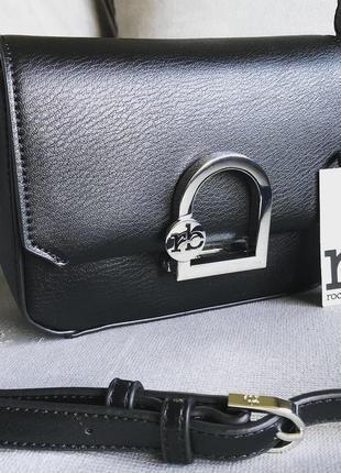 Новая чёрная классическая сумка от итальянского бренда roccobarocco (оригинал)