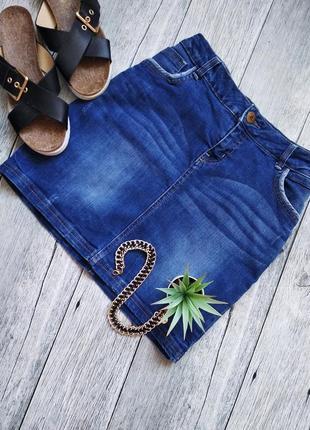 Базовая джинсовая юбка с потертостями от yessica