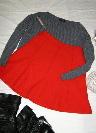 Красивенная красная юбка клеш mint&berry