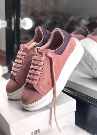 Распродажа! шикарные женские весенние кроссовки alexander mcqueen pink