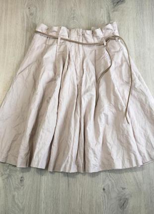 Пудовая юбка с карманами