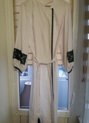 Платье вышиванка бисером