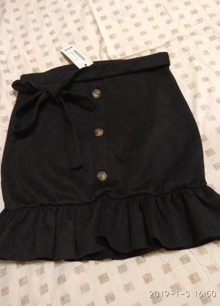 Шикарная юбка с воланом