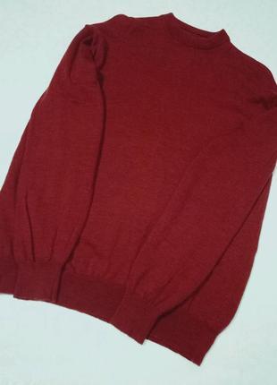 Шерстяной объемный свитер
