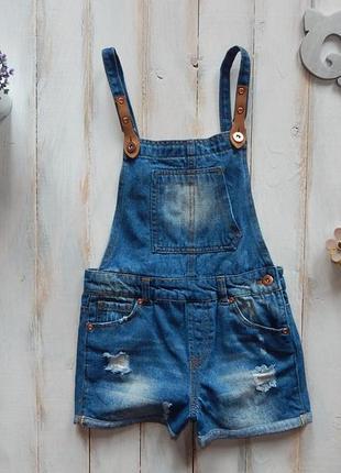 Miss e-vie стильный джинсовый комбинезон на девочку  10 лет