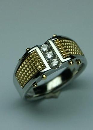 Мужской золотой перстень baraka с бриллиантами . размер 20.5