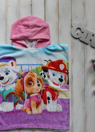 George классное полотенце-пончо  для девочки