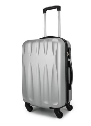 Средний чемодан wallaby 64/76 л, высокого качества, серебро