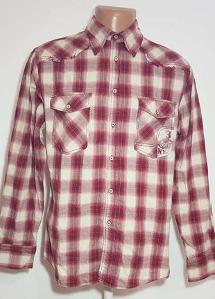 Рубашка soho street, new york, 100% хлопок, m, как новая!