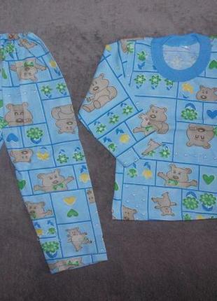 Детская пижама без утепления р.86,92,92,98,104,110