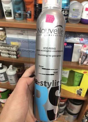 Лак для волос без газа сильной фиксации nouvelle re-styling eco fixing