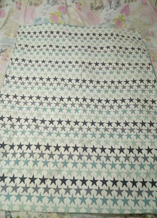 Комплект детского постельного, в кроватку, пододеяльник и наволочка со звездами