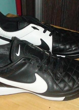 Nike tiempo - шкіряні футзалки-сороканіжки. р- 45 (29см) 8eaf54a4a5914