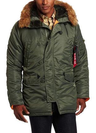 Зимняя куртка-парка alpha industries n-3b slim-fit parka.  размер 5xl.